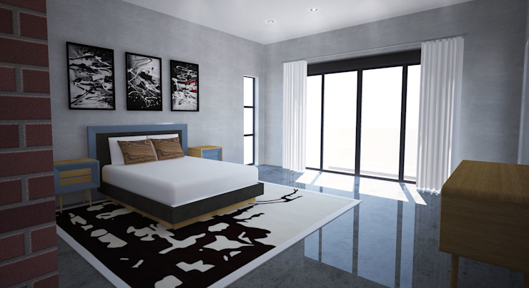 New Master Bedroom A4AC Architects Modern style bedroom Concrete White