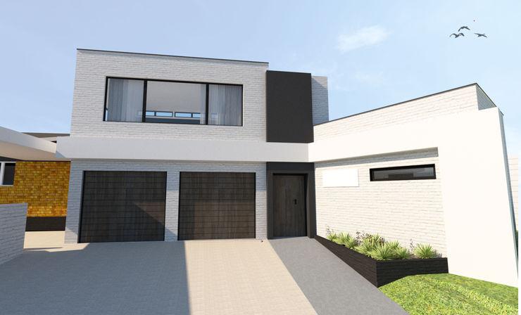 A4AC Architects Casas unifamilares Ladrillos Blanco