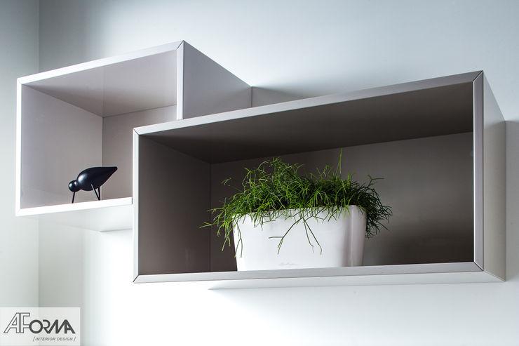 modern apartament in grey AFormA Architektura wnętrz Anna Fodemska Modern study/office