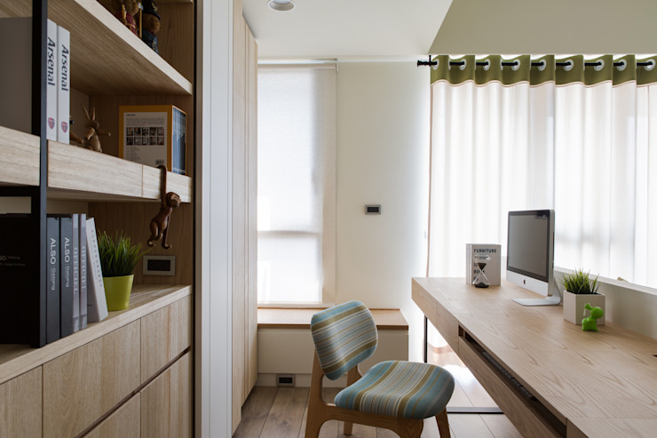 詩賦室內設計 Ruang Studi/Kantor Gaya Skandinavia