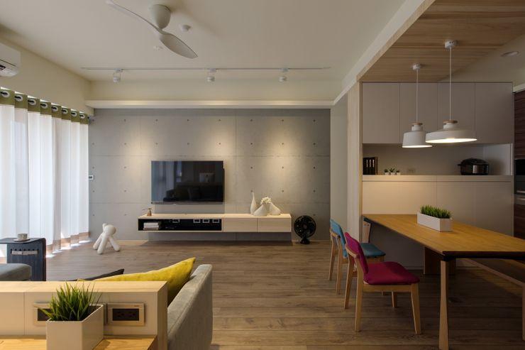 詩賦室內設計 Ruang Keluarga Gaya Skandinavia