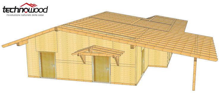 Technowood srl Classic style houses Wood