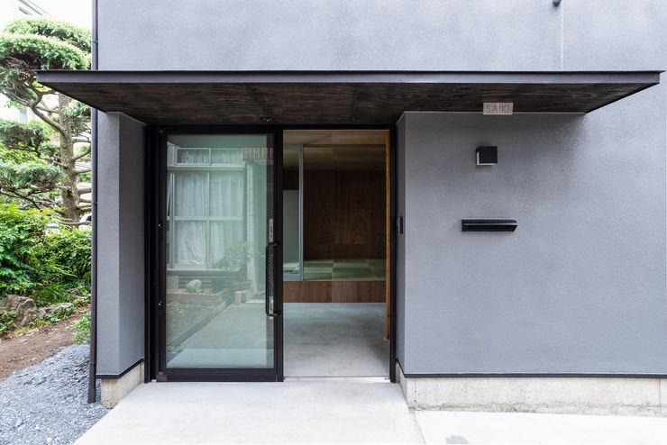 SAIWAIの家 株式会社 N&C一級建築士事務所 オリジナルスタイルの 玄関&廊下&階段