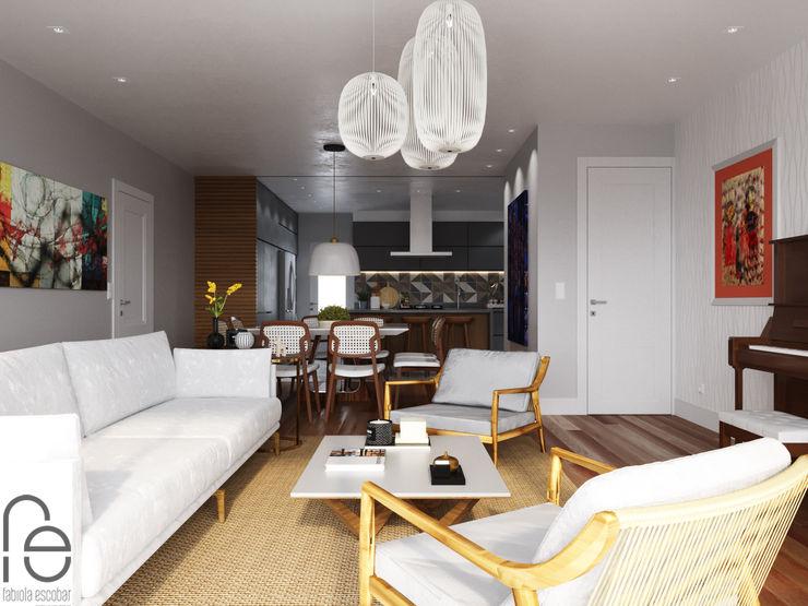 Sala de estar integrada homify Salas de estar modernas