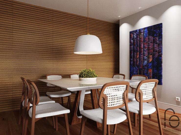 Opção sala de jantar independente - fechamento do painél homify Salas de jantar modernas