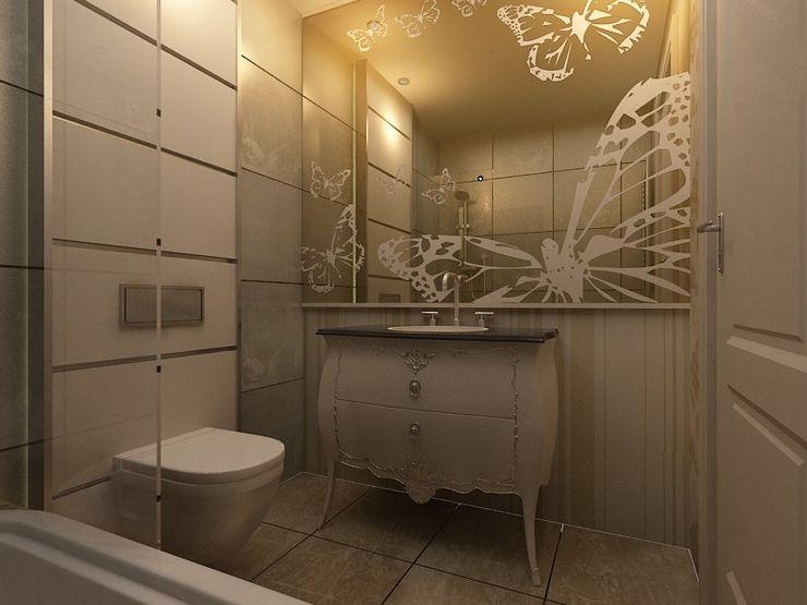 Sinpaş AQUA CİTY iç tasarımı 1 homify Modern Banyo Mermer Altın Sarısı