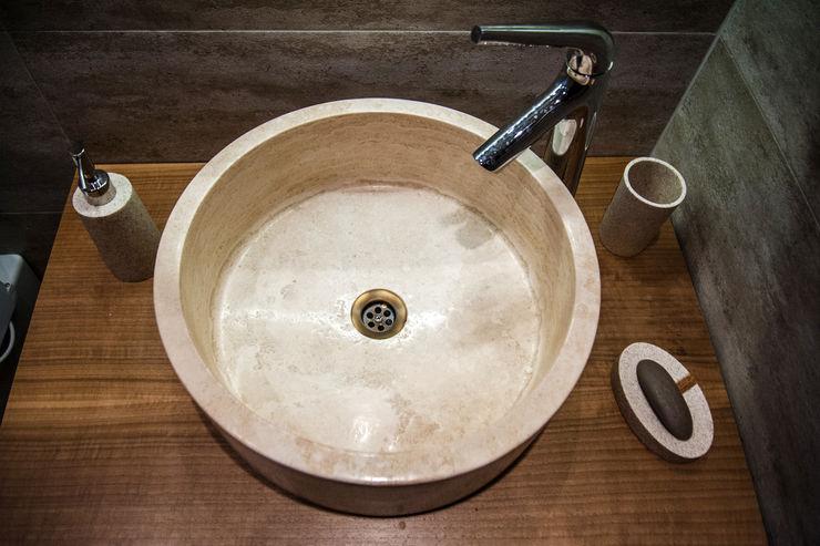 Misafir Banyosu Este Mimarlık Tasarım Uygulama Modern Banyo