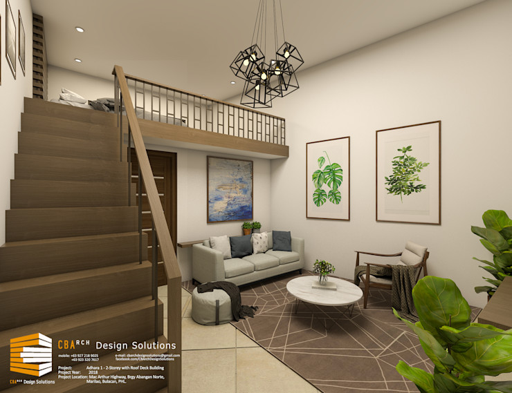 Penthouse with Loft CB.Arch Design Solutions Commercial Spaces Beige