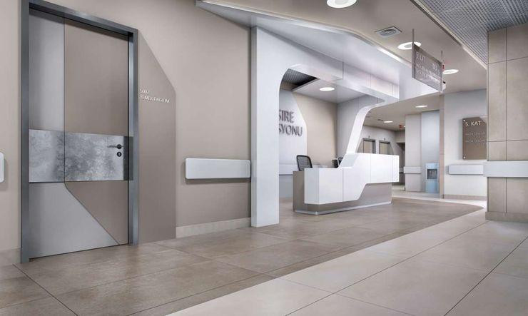 Tınaztepe Galen Hastanesi - Koridorlar VERO CONCEPT MİMARLIK Modern Hastaneler