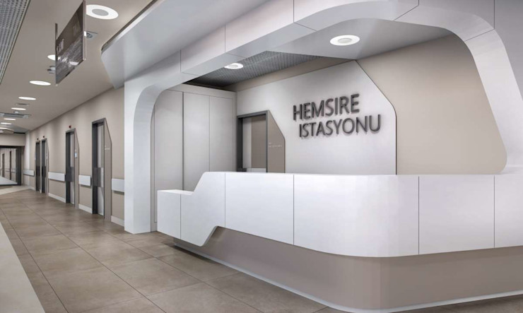 Tınaztepe Galen Hastanesi - Hemşire İstasyonu VERO CONCEPT MİMARLIK Modern Hastaneler