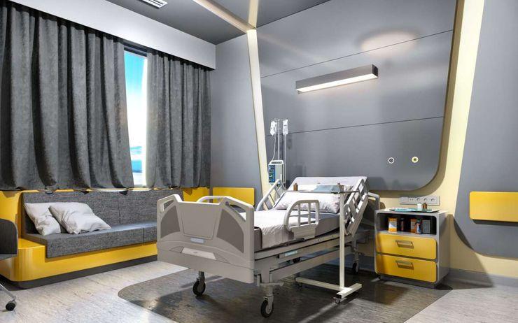 Tınaztepe Galen Hastanesi - Hasta Odası VERO CONCEPT MİMARLIK Modern Hastaneler