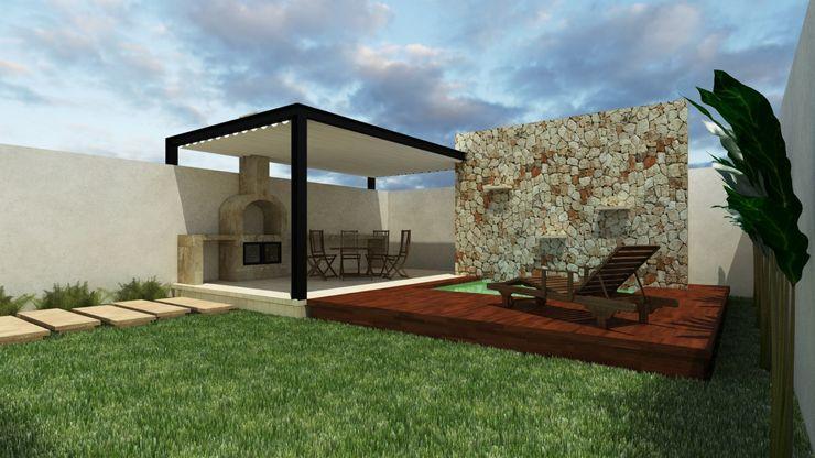 Casa Anse Pangea Arquitectura & diseño Balcones y terrazas modernos