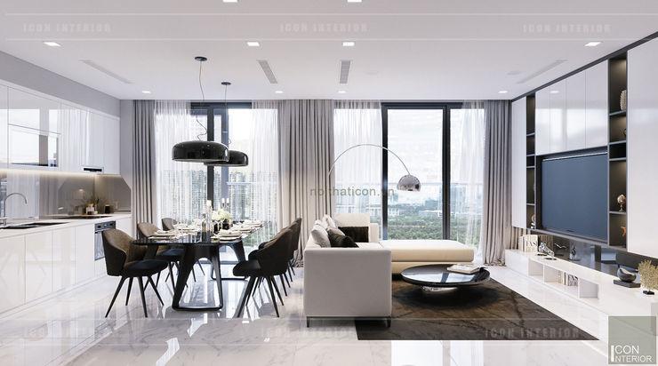 ICON INTERIOR 现代客厅設計點子、靈感 & 圖片