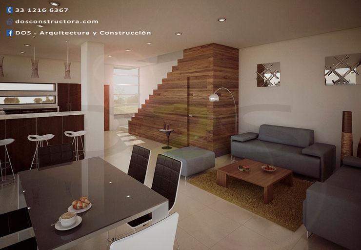 Escalera De Madera Moderna, Construccion De Casas En Guadalajara DOS Arquitectura y construcción Escaleras