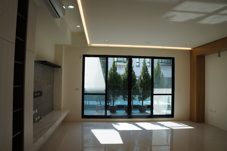 2F客廳 houseda 客廳 磚塊 White