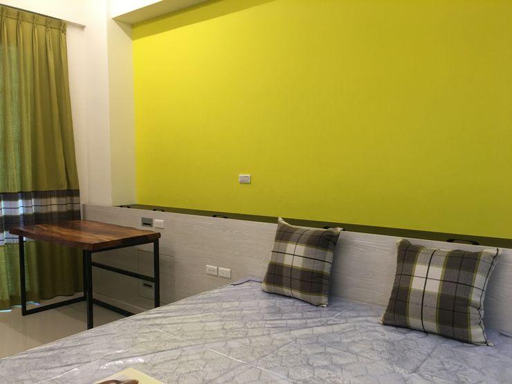 4F前男孩房床頭半高牆 houseda 臥室 MDF Yellow