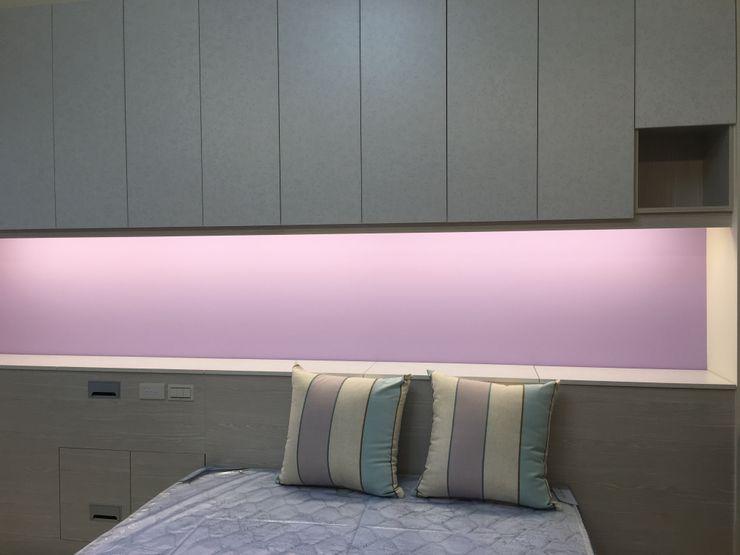 4F後女孩房床頭收納櫃 houseda 臥室 MDF Purple/Violet