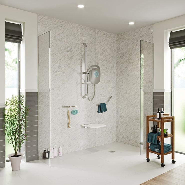 Independent Living - Bathroom ideas Victoria Plum Modern Bathroom Glass White