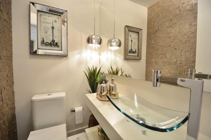 LAVABO Motta Viegas arquitetura + design Banheiros modernos Madeira Cinza