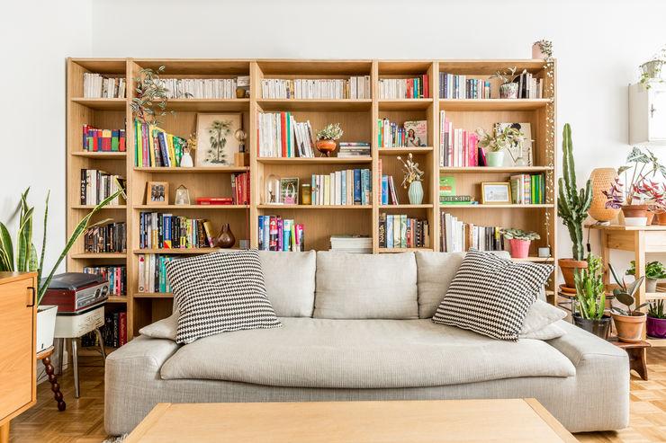 Piso - Paris 20 CLAAAC interiorismo y diseño Salones de estilo escandinavo