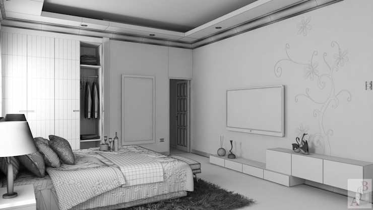 A.BORNACELLI Modern style bedroom