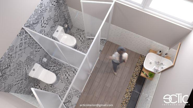 Female Office Toilet Ectic Interior Design & Build Kamar Mandi Gaya Asia