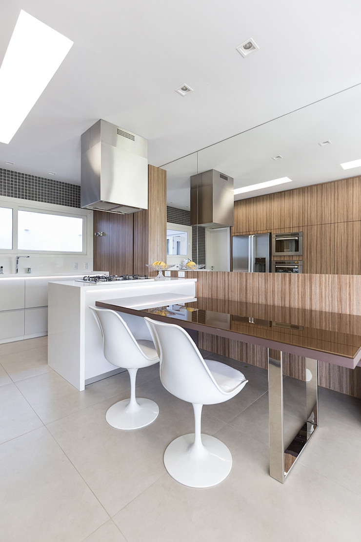 Rabisco Arquitetura Dapur Modern Kaca Transparent