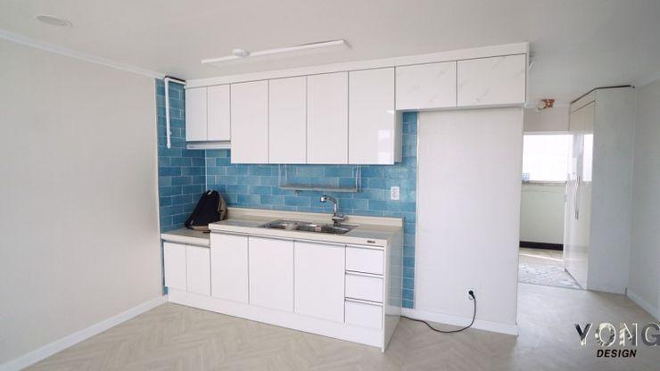 YONG DESIGN Built-in kitchens Tiles Blue