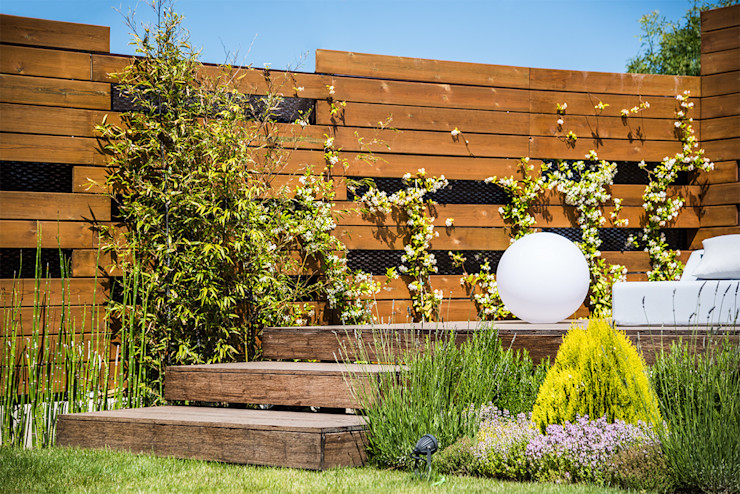 Diseño y construcción de piscinas y jardines zen en Madrid AGi architects arquitectos y diseñadores en Madrid Jardines japoneses Madera Acabado en madera