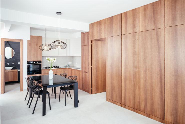 Area Cucina manuarino architettura design comunicazione Cucina attrezzata Legno Beige