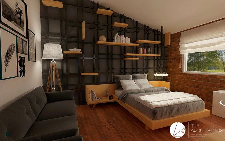 RECAMARA PUERTA DE HIERRO T+F Arquitectos Dormitorios modernos