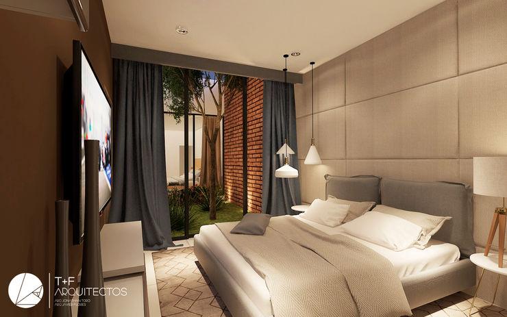 CASA EL PUEBLITO T+F Arquitectos Dormitorios modernos