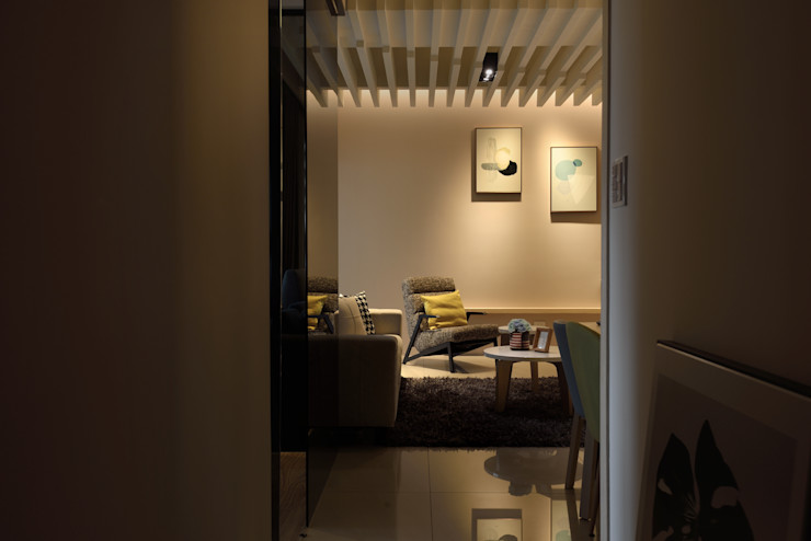 星葉室內裝修有限公司 Modern corridor, hallway & stairs