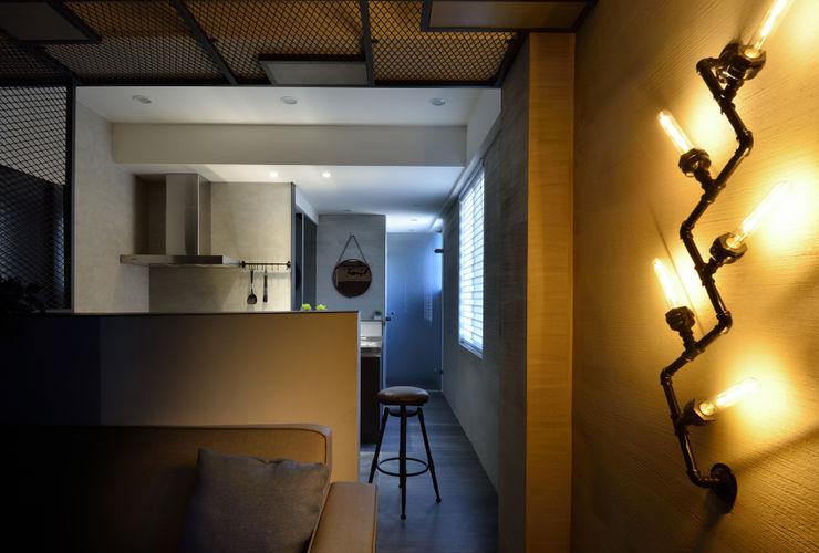 星葉室內裝修有限公司 industrial style corridor, hallway & stairs