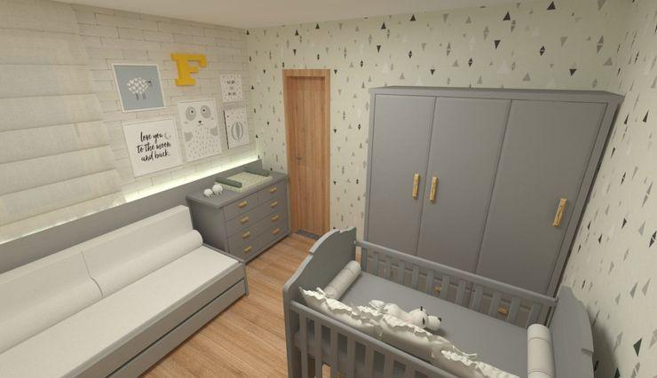 GABRIELA GUERREIRO   ARQUITETURA Baby room MDF Grey