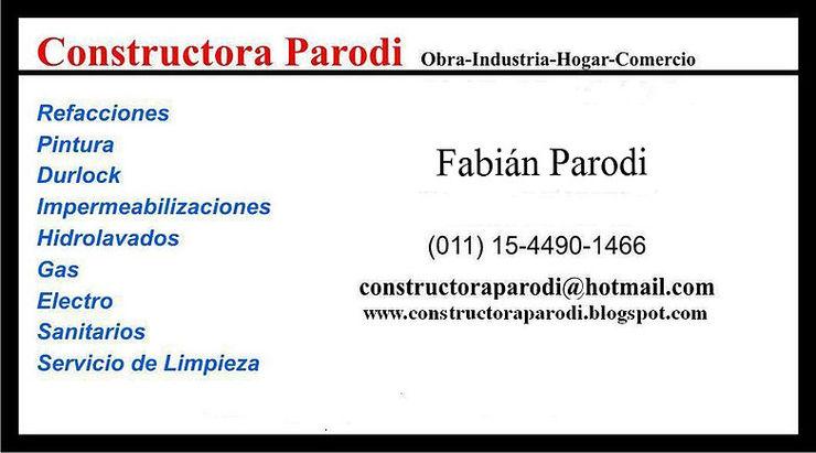 Distintas obras y servicios Constructora Parodi