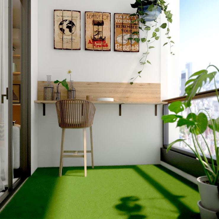 Balcony Norm designhaus Scandinavian style gardens
