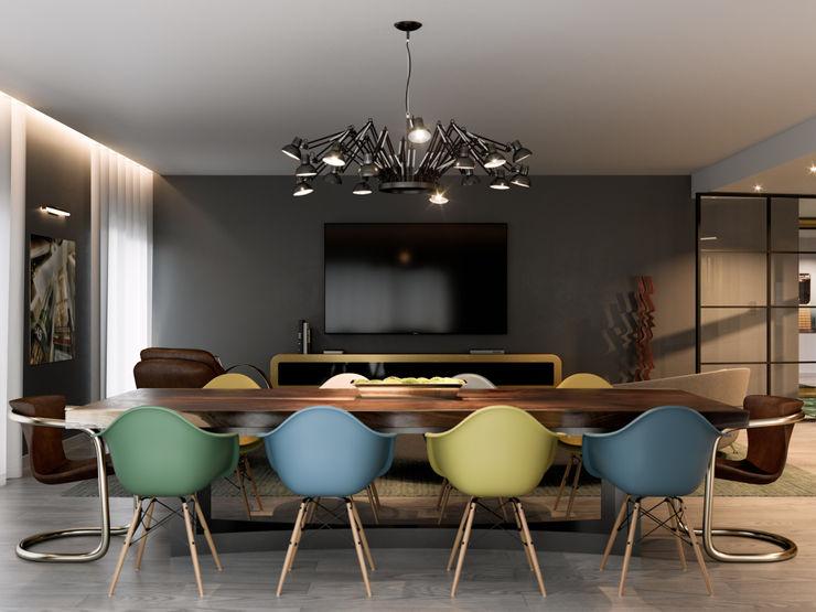 Pent House Quinta dos Alcoutins, Lumiar Inêz Fino Interiors, LDA Salas de jantar industriais