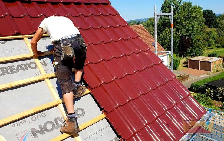 Dachdeckermeisterbetrieb Dirk Lange 박공 지붕 빨강