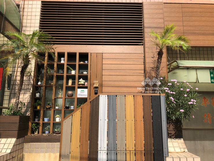 新綠境實業有限公司-大門翻新 新綠境實業有限公司 華廈 塑木複合材料 Wood effect