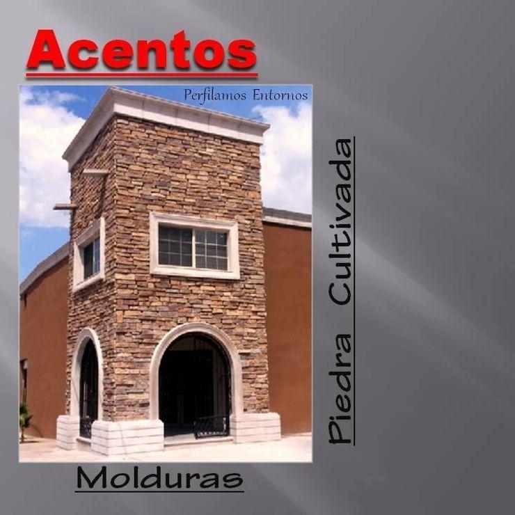 Piedra Cultivada, Molduras ACENTOS Casas modernas