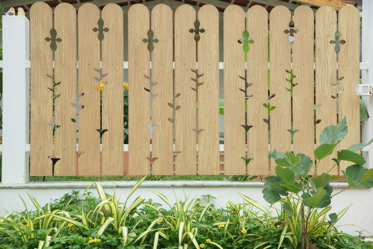 PRE-FAB VILLA in Gachibowli iammies Landscapes Minimalist style garden