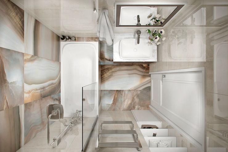 Квартира 66 кв.м. в стиле эклектика в ЖК Успенский Студия архитектуры и дизайна Дарьи Ельниковой Ванная комната в эклектичном стиле