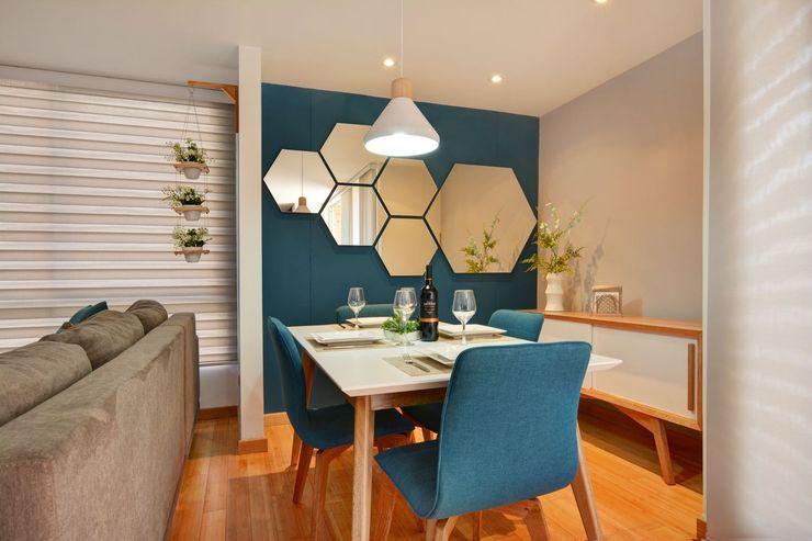 Gauss, disfruta cada espacio Natalia Mesa design studio Comedores de estilo moderno Madera