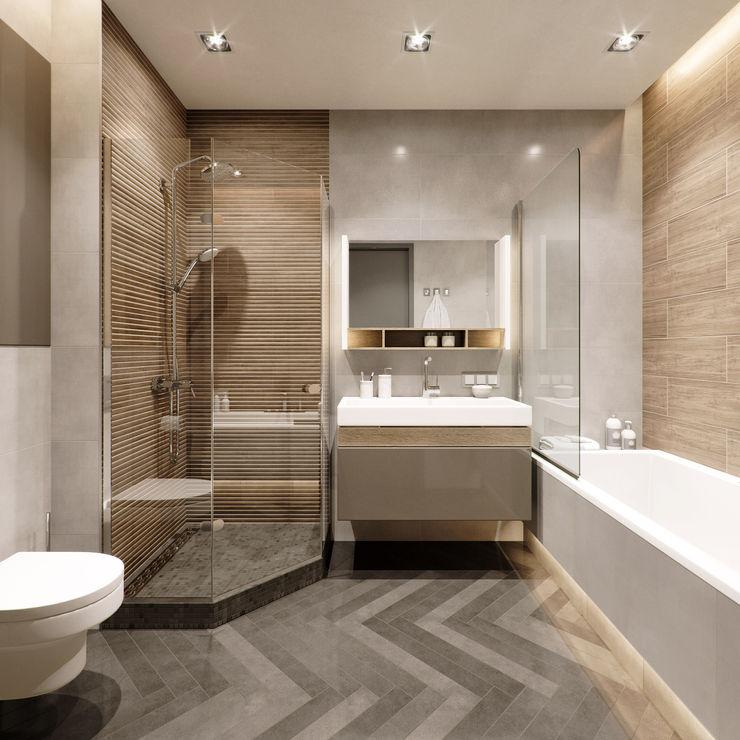 2-х комнатная квартира в центре Киева EJ Studio Ванная комната в стиле минимализм