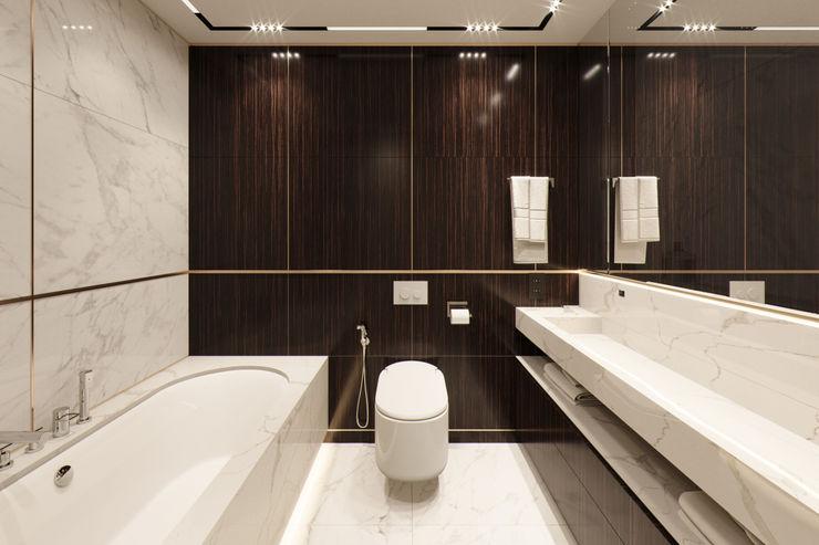 Квартира в ЖК Николаевский ансамбль EJ Studio Ванная комната в стиле модерн