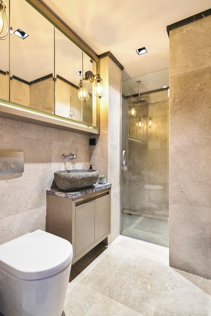 Bodrum Bodrum Esra Kazmirci Mimarlik Eclectic style bathroom Marble Grey