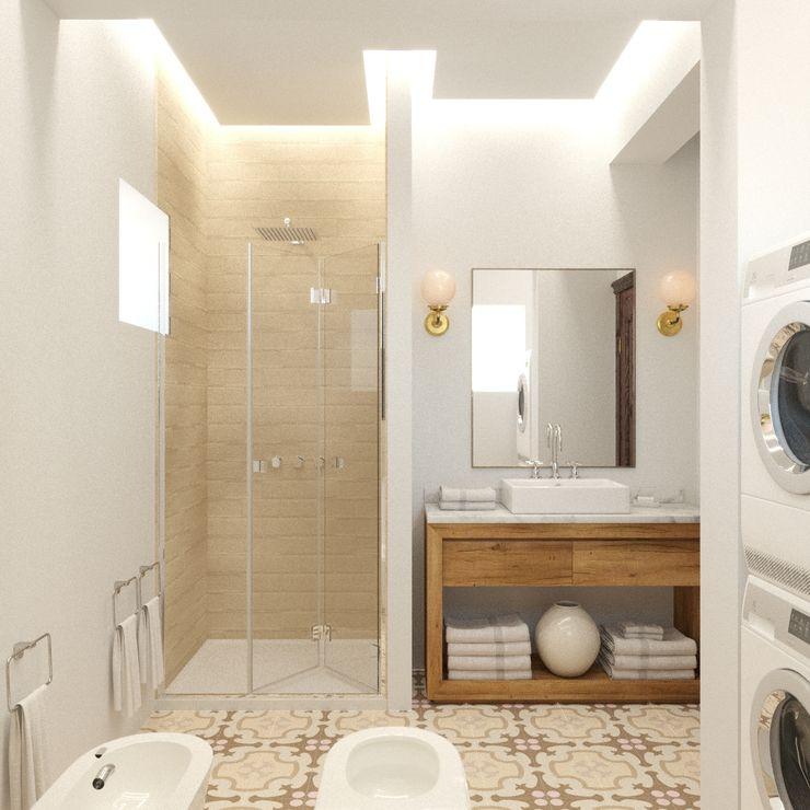 Яркая вилла на о. Кипр|Bright villa on Cyprus|Parlaklı villa Kıbrıs'ta Eli's Home Ванная в средиземноморском стиле