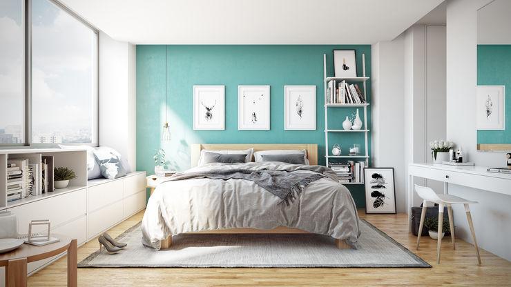 -Recámara M- TACTIL Arquitectura Dormitorios escandinavos
