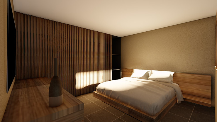 alexander and philips Tropical style bedroom